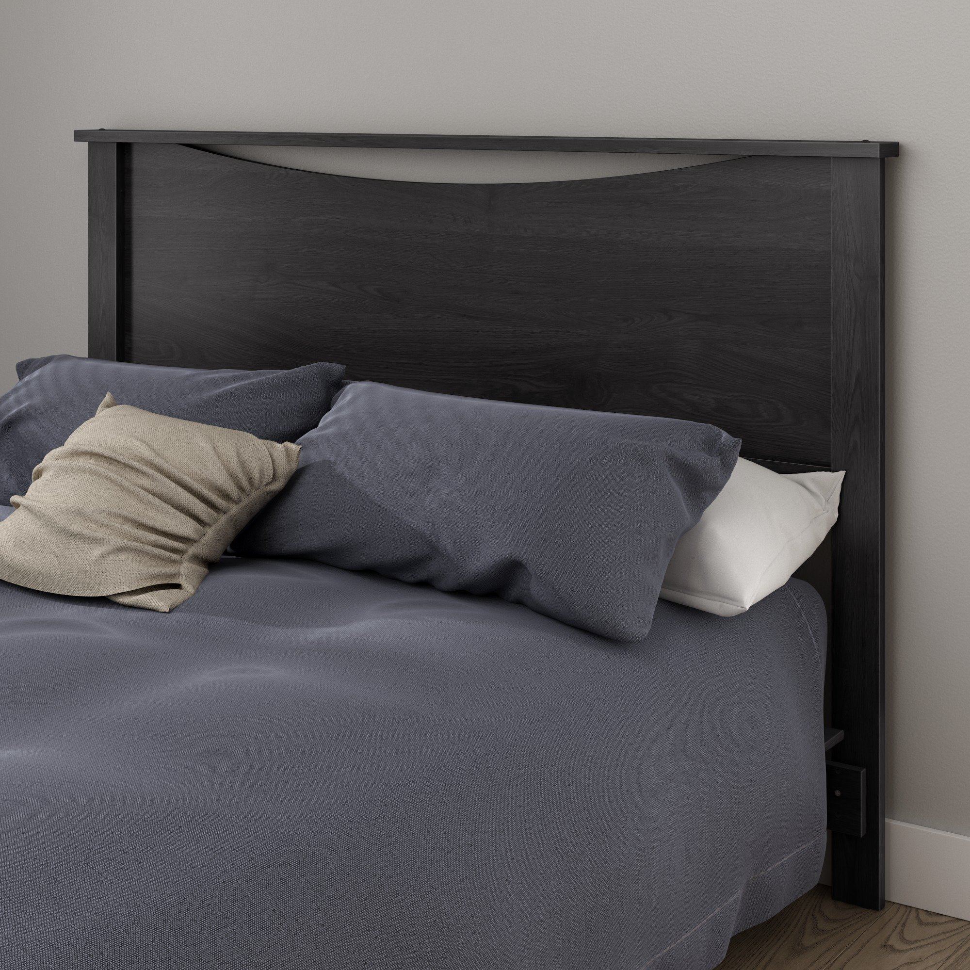 South Shore Step One Headboard, Full/Queen 54/60-Inch, Gray Oak by South Shore