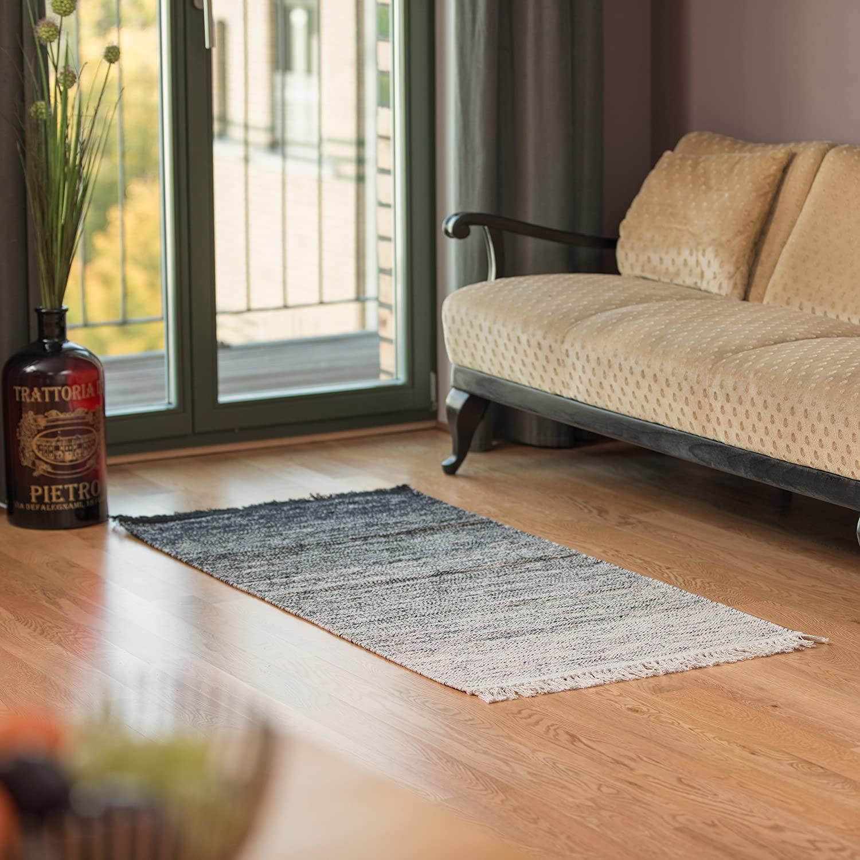Relaxdays Teppichlaufer Flur 90 X 60 Cm Handgewebter Flachgewebe