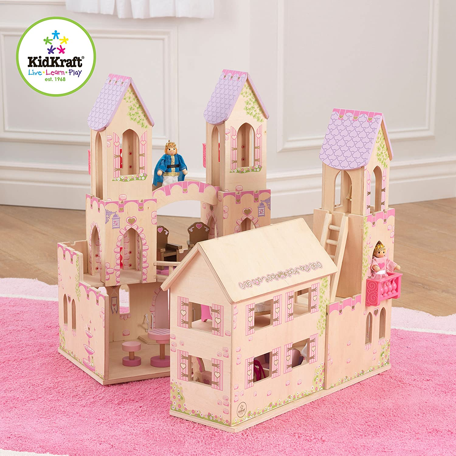 Kidkraft Princess Castle Dollhouse With Furniture Ebay