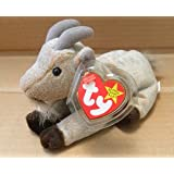 0259911a05f TY Beanie Babies Goatee the Goat Stuffed Animal Plush Toy - 6 inches long