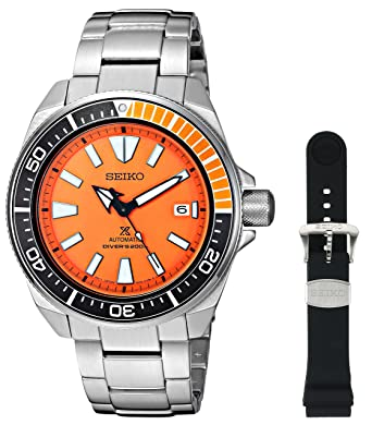 seiko menu0027s srpb97 prospex japanese automatic stainless steel dive watch