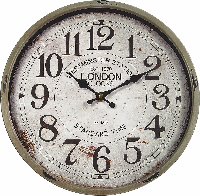 30 cm. design Vintage London perla pd design orologio da parete in metallo con quadrante in vetro colore fango laccato ca