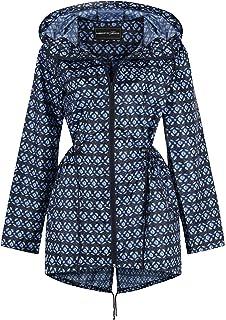 c30a05ccb Ladies Women Rain Mac Raincoat Showerproof Fishtail Kagool Kagoul Festival  Parka Jacket Hooded Lightweight…