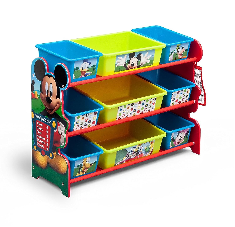 Amazon.com: Delta Children 9 Bin Plastic Organizer, Disney Mickey ...
