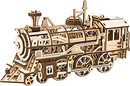 3D WOODEN TRAIN MODEL PUZZLE BRAND NEW SEALED.
