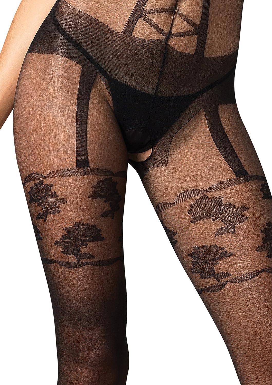 f3ffcb0e3d Amazon.com  Leg Avenue Sheer Bodystocking with Faux Garter Belt Detail   Adult Exotic Lingerie Bodystockings  Clothing