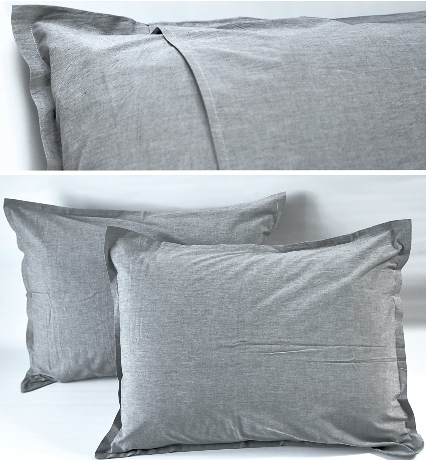sheets bedding chambray cover unison sand revised duvet stone