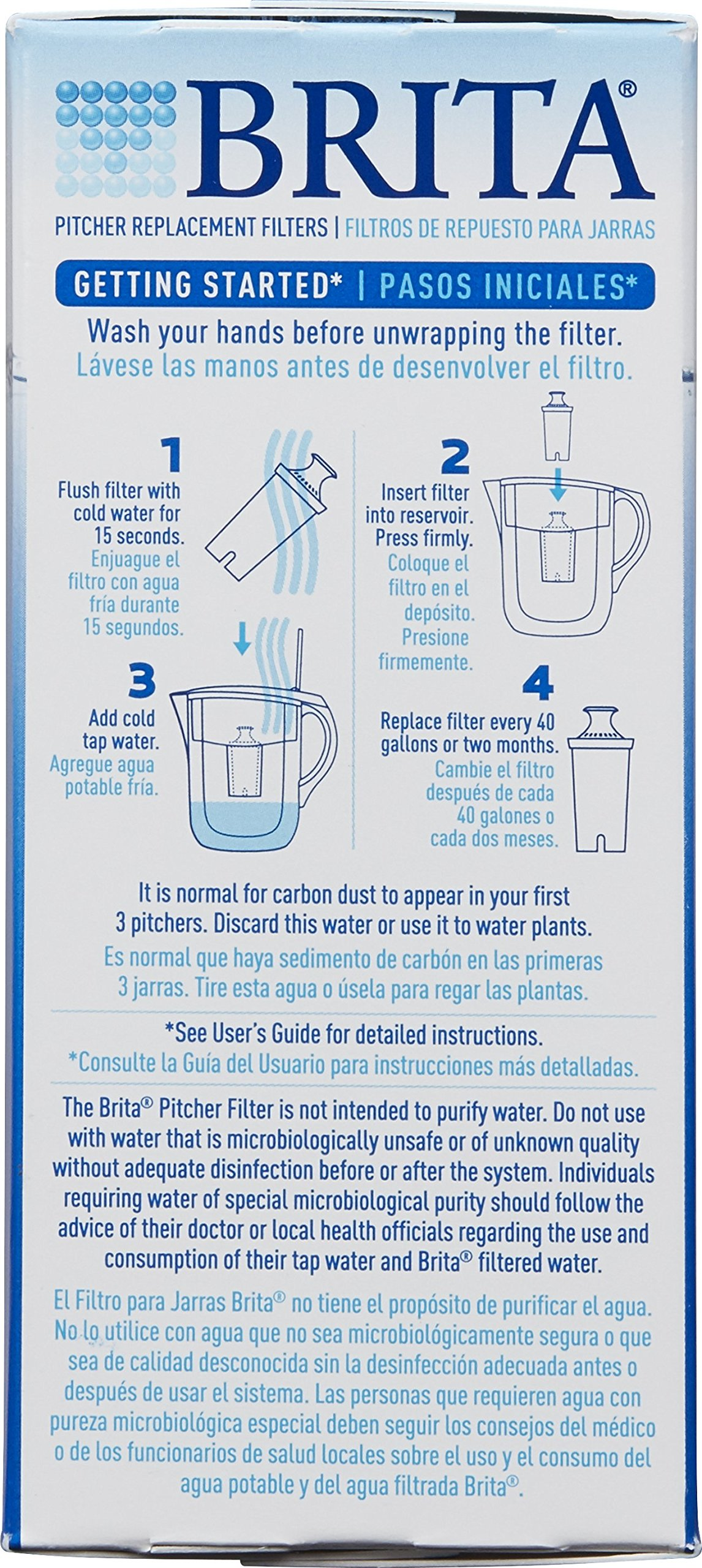 Brita Standard Replacement Filters for Pitchers and Dispensers - BPA Free - 5 Count by Brita (Image #6)