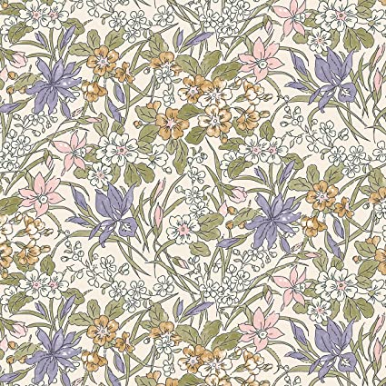 Liberty quilters weight cotton Fabric Ricardo Light blue