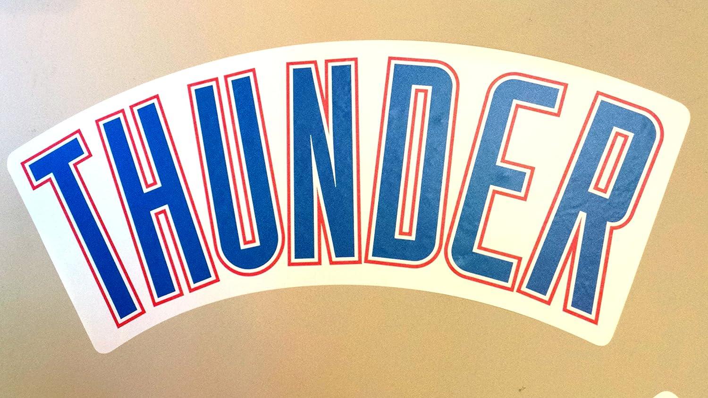 Oklahoma City Thunder FatheadチームSignロゴ公式NBAビニール壁グラフィック25