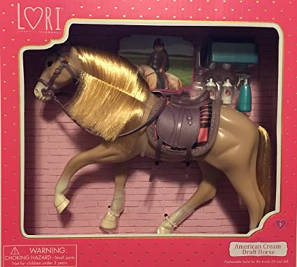 "Lori by Our Generation Black Irish Draught Horse W// Accessories For The 6/"" Doll"