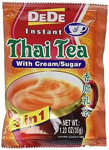 DEDE Instant Thai Tea Drink with Cream and Sugar - 12 Pockets