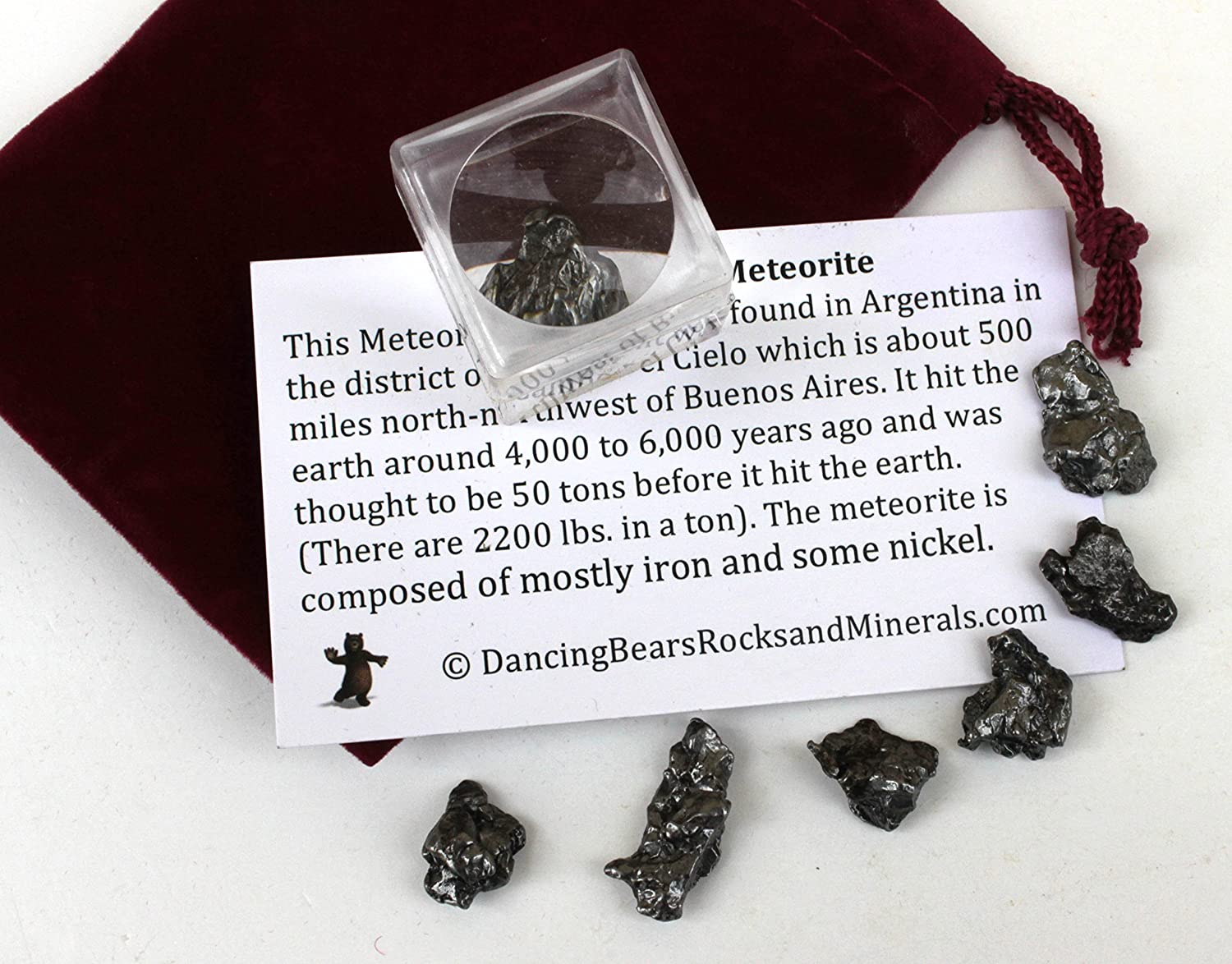 amazon com dancing bear brand meteorite from space 6 pcs campo