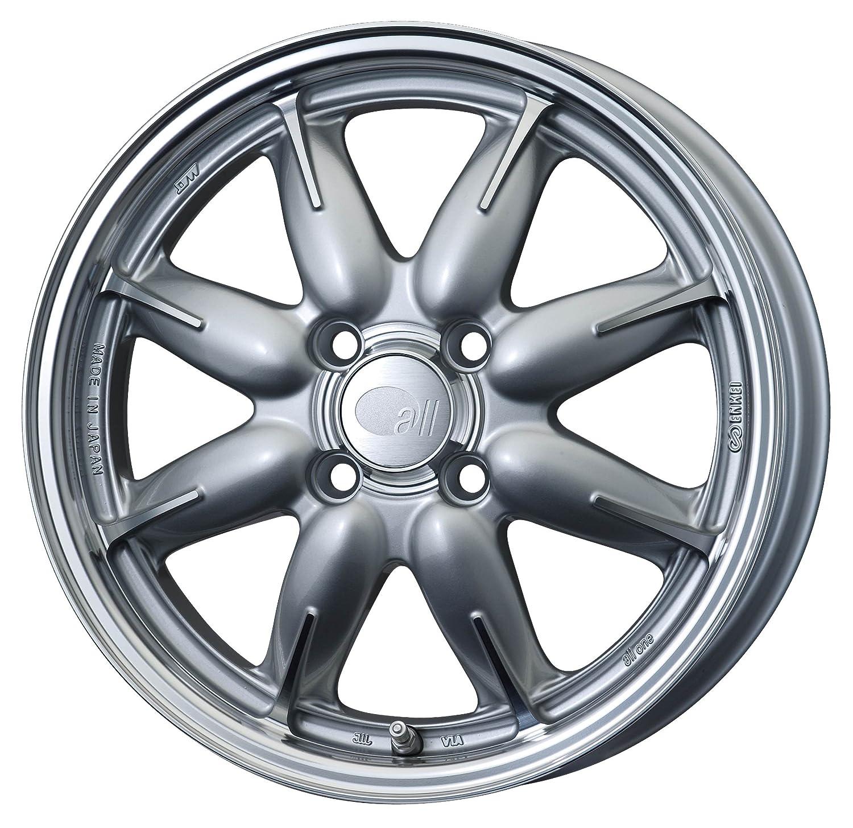 エンケイ アルミホイール all one 15 x 5.0J +45 4H 100 Machining Silver AL1-550-45-4C-S B06VV4D83V