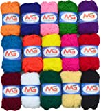 M.G ENTERPRISE Hand Knitting Art Craft Soft Fingering Crochet Hook Yarn Wool Ball - Pack of 15