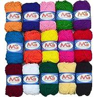 M.G ENTERPRISE Hand Knitting Art Craft Soft Fingering Crochet Hook Yarn Wool Ball - Pack of 15