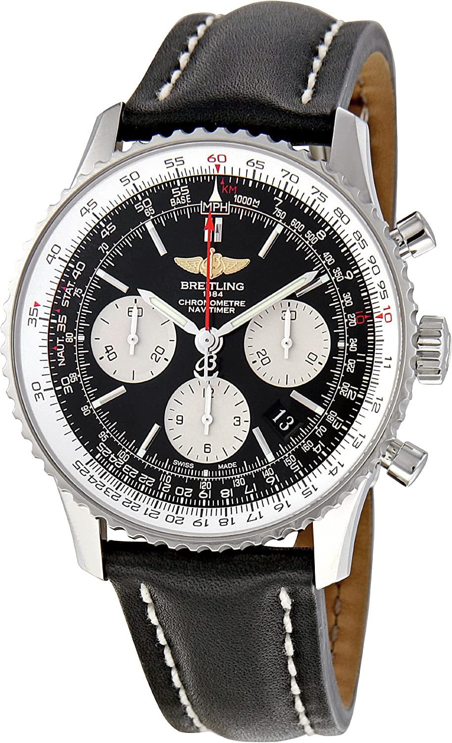 Breitling Men s AB012012-BB01 Navitimer Chronograph Stainless Steel Watch