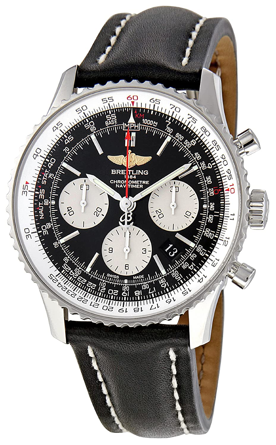 Breitling Men S Ab012012 Bb01 Navitimer Chronograph Stainless Steel Watch