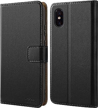 HOOMIL Cuero Premium Funda para Xiaomi Mi 8 Pro Carcasa (Negro ...