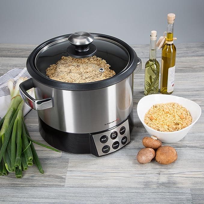 Ultratec 331400000158 Robot de cocina 6 en 1 con elemento para mezclar para arroz, risotto, pasta, sofritos, cocción lenta y mantener caliente, 1000 W: Amazon.es: Deportes y aire libre