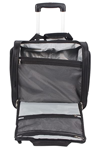 96450f72b66d Ciao Luggage Carry On Suitcase Wheeled Airplane Weekender Under the Seat Bag