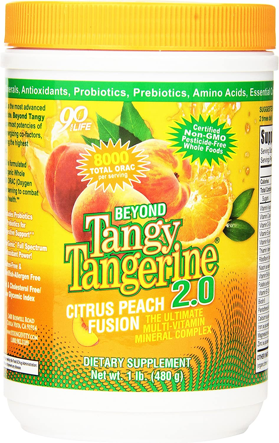 BTT 2.0 Citrus Peach Fusion 480 g canister – 6 Pack