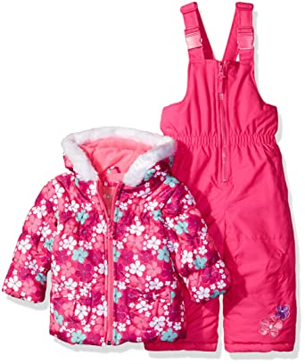 2fbf3dbab Amazon.com  Wippette Girls  Baby Flower Print Snowsuit