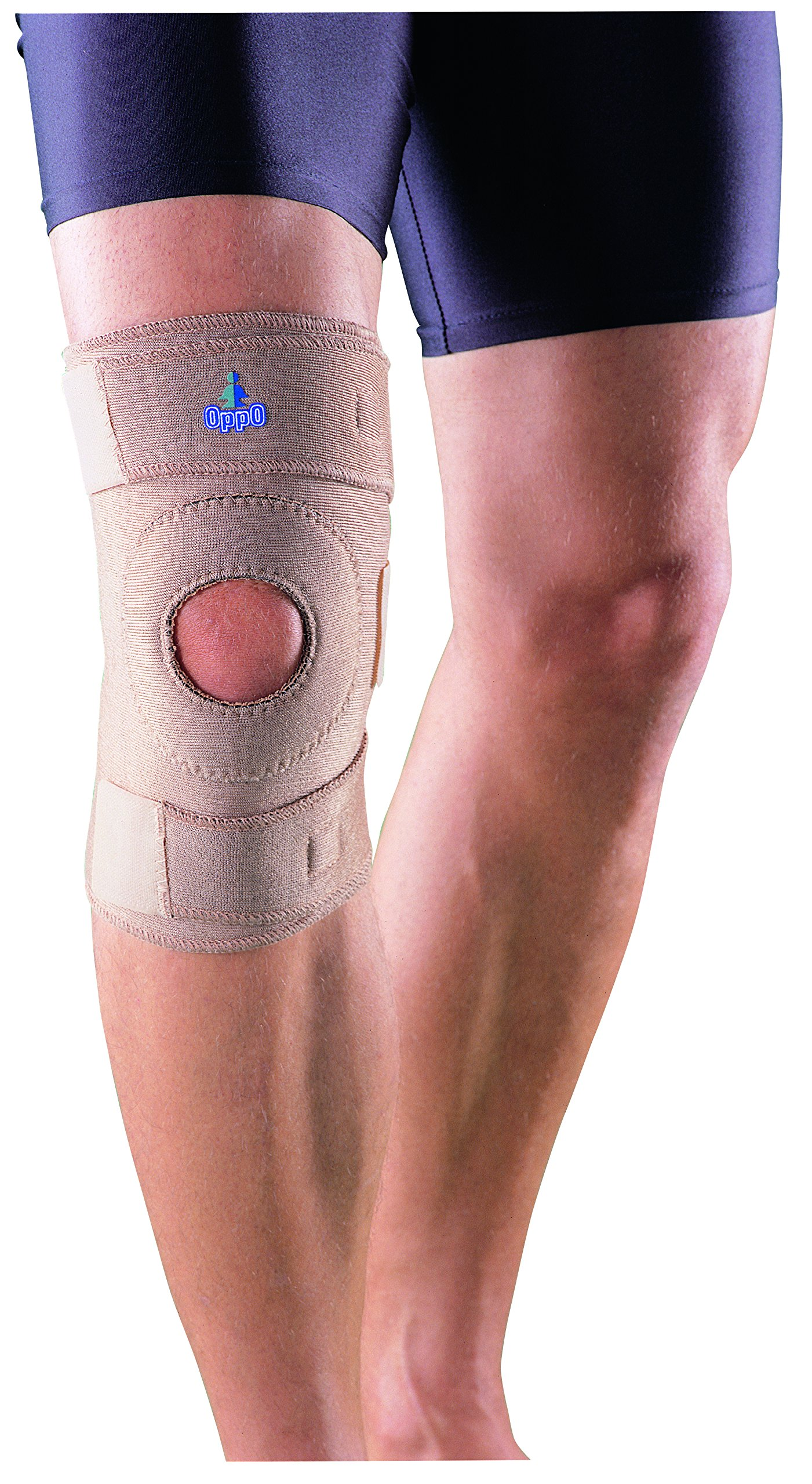 Oppo Medical CoolPrene Right or Left Knee Support (Unisex; Natural; One Size Fits Most)