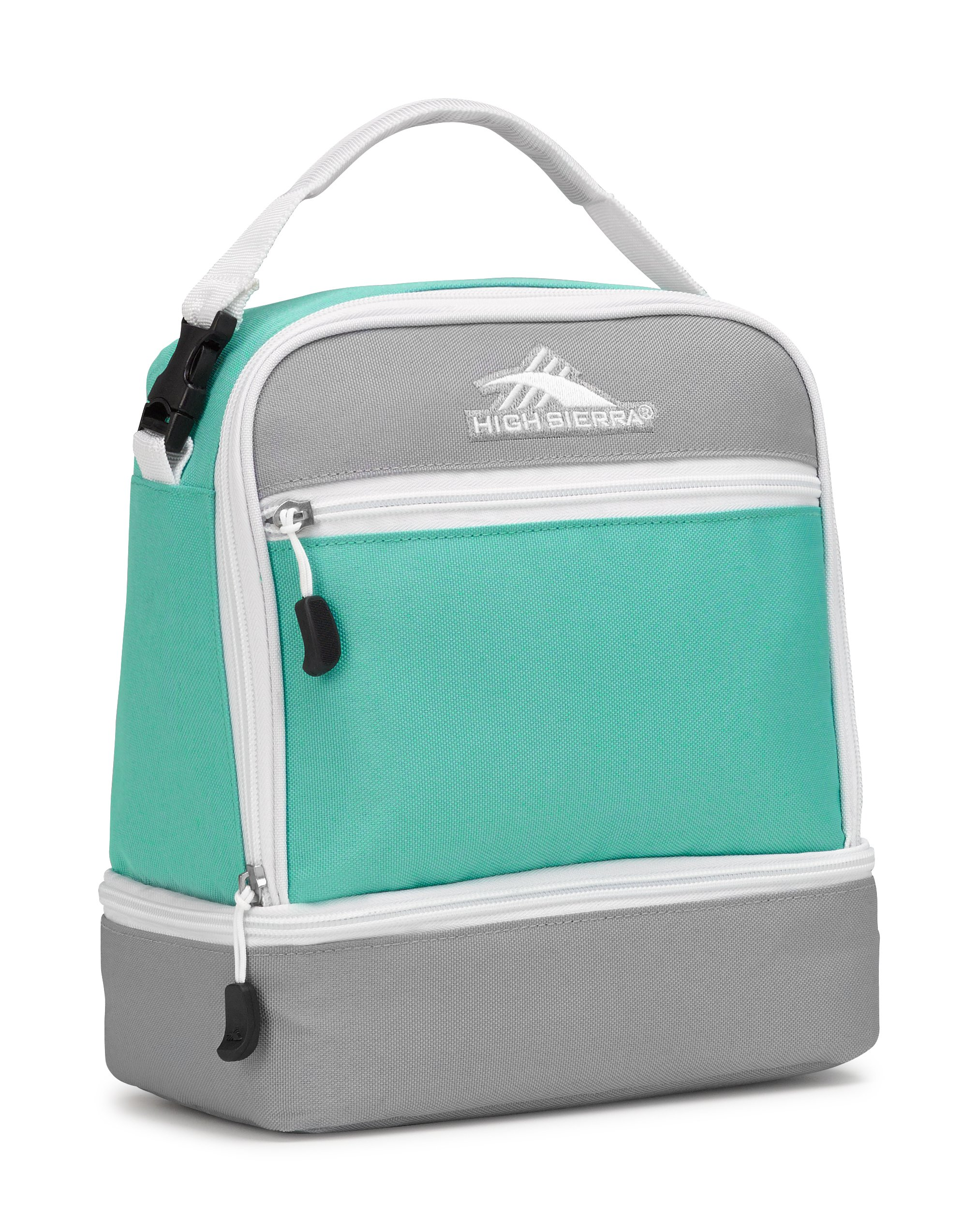 High Sierra Stacked Compartment Lunch Bag, Aquamarine/Ash/White