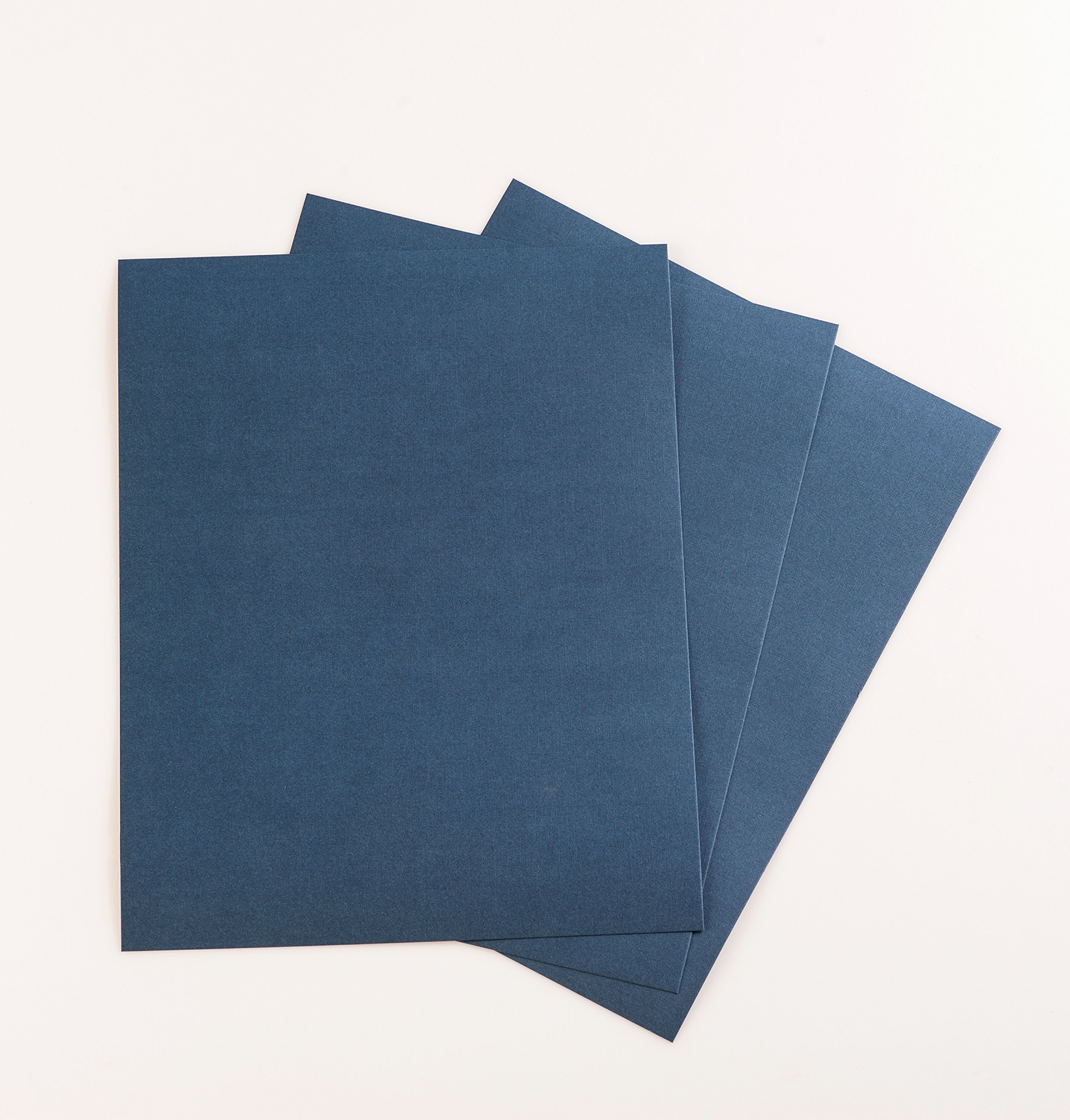 BNC Letter Size Linen Texture Presentation Covers Navy Blue Pack of 100 by BNC Office Supply (Image #2)