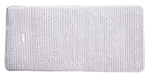 "Rubbermaid Cushion Bath Mat, White 17"" x 36"""