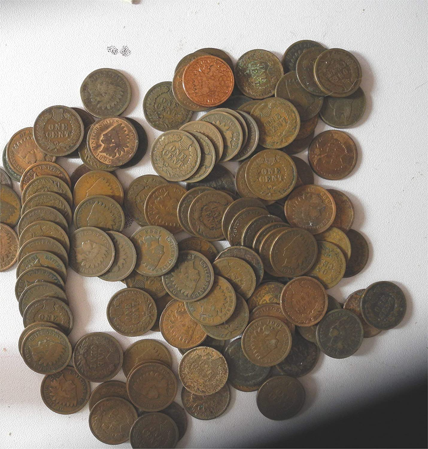 1880 thru 1899 Various Indian Head Pennies 5 Different Dates in Gift Bag Indian Head Good and Better