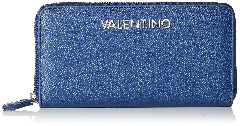 Valentino by Mario Valentino VPS1R4155G, Porte-monnaie femmeArgenté é (Argento 040), 2.5x10.5x14.5 cm (B x H x T)
