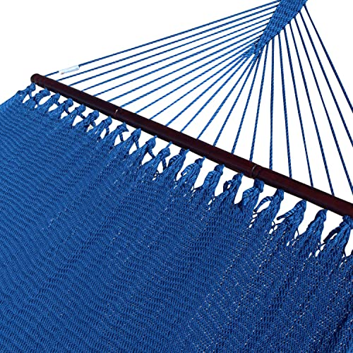 Caribbean Hammocks Double 48 inch – Soft Spun Polyester – Dark Blue