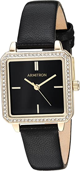 Armitron Women's Genuine Crystal Accented Leather Strap Watch, 75/5597