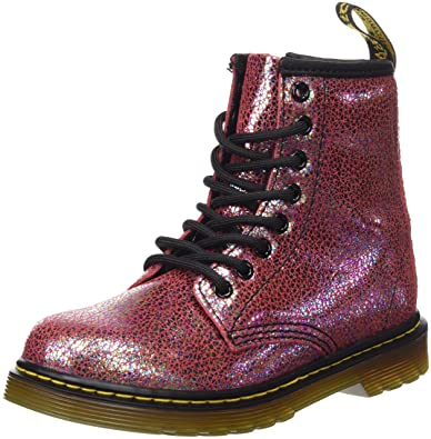 b6e2957ea2b72 Dr. Martens Kid's Delaney IE Lace Fashion Boots, Pink Leather, 3 Little Kid