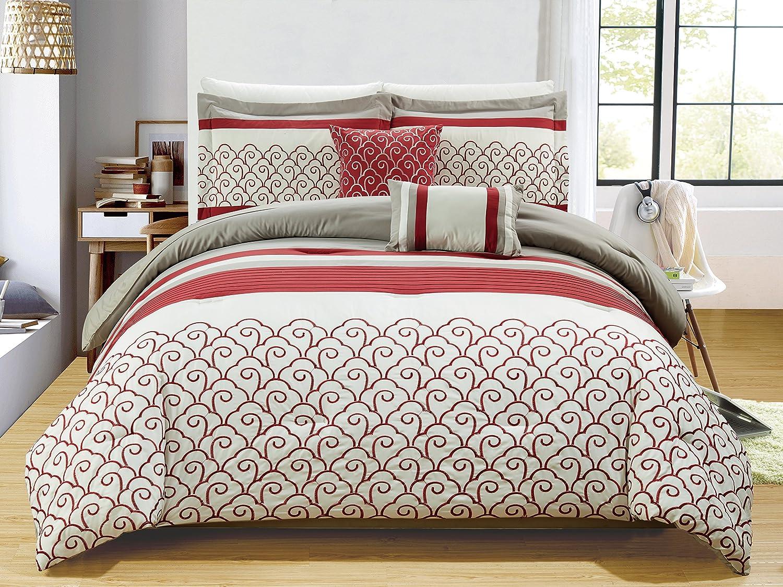 RT設計者コレクションCarteret刺繍5-piece布団セット、キング B0757T14LF