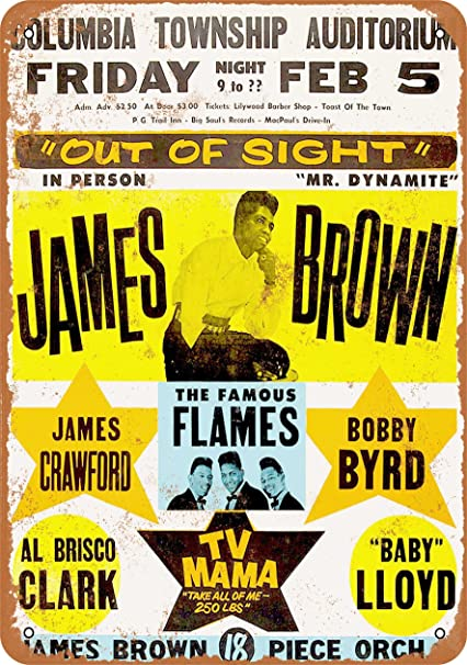 2afd77f6c6 Amazon.com  Wall-Color 10 x 14 Metal Sign - 1964 James Brown in ...