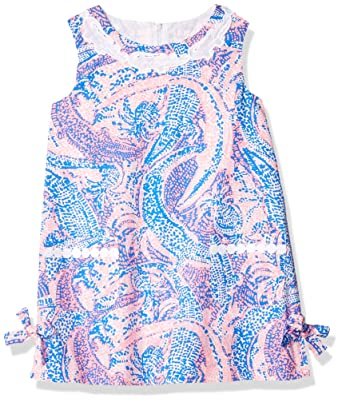 e28d58afdf2693 Lilly Pulitzer Girls Little Lilly Classic Shift, Coastal Blue Maybe Gator, 2