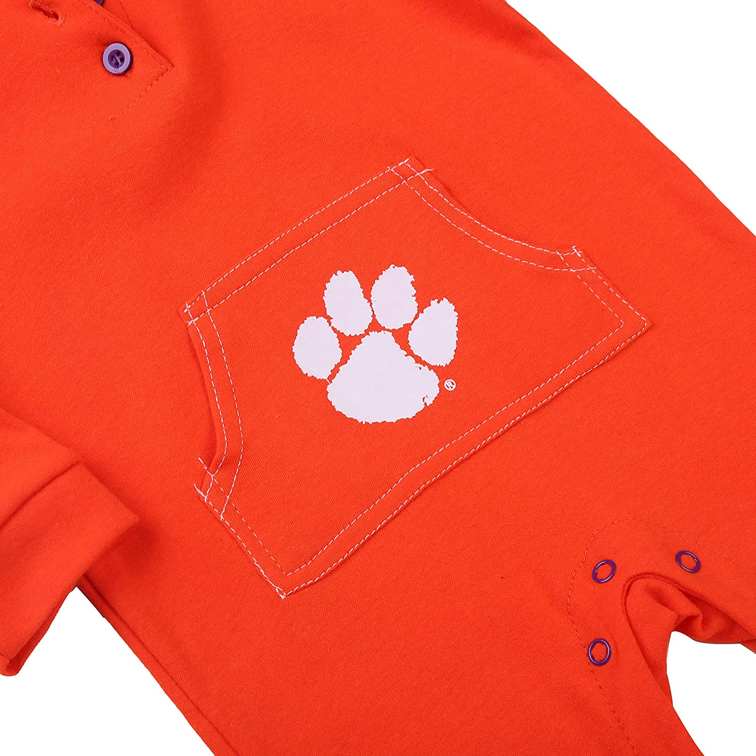 Fast Asleep Pjs Clemson Tigers University Baby and Toddler Hooded Romper