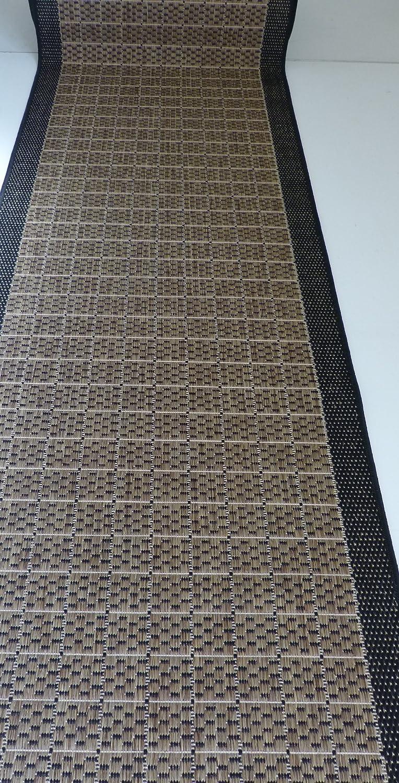 Teppichläufer Rutschfest Waschbar Meterware B//80 cm Diele Rot Stufenmatten