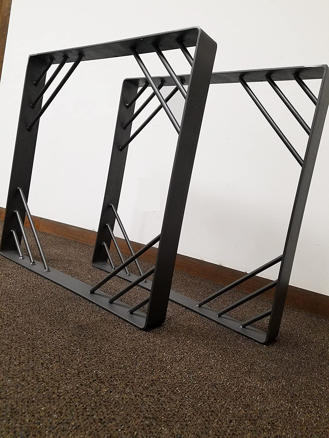 Metal Diagonals Style Steel Table Legs - Any Size and Color!