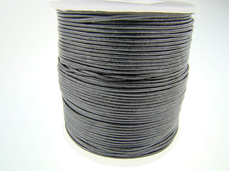 Lederband 2,5mm schwarz 1m St Lederbänder Lederriemen Lederschnur Vierkantriemen
