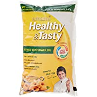 Emami Healthy and Tasty Refined Sunflower Oil Pouch, 1L