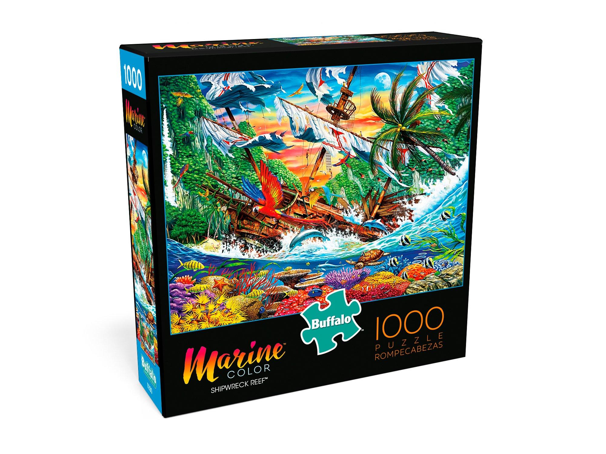 Buffalo Games - Marine Color - Shipwreck Reef - 1000 Piece Jigsaw Puzzle by Buffalo Games (Image #3)