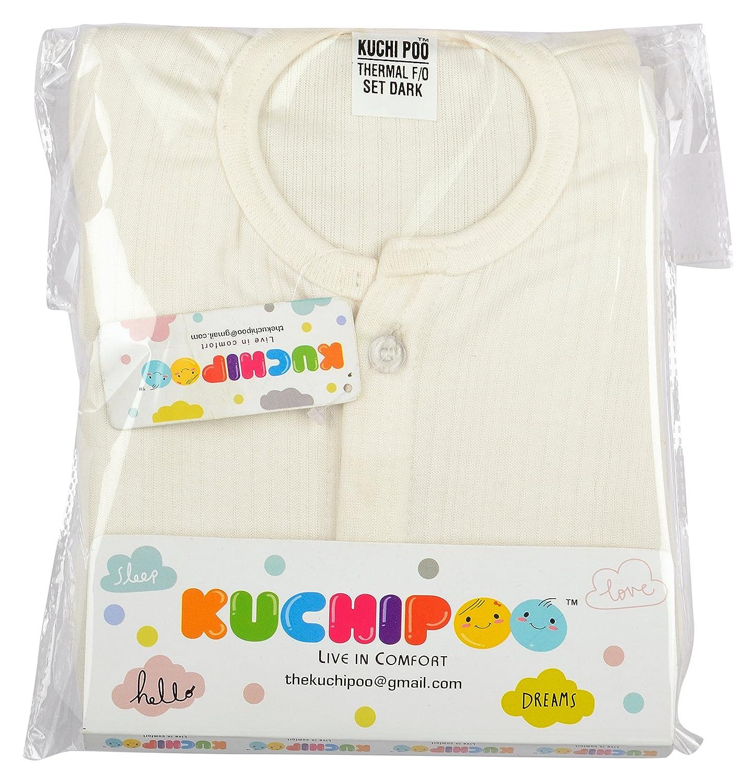 Kuchipoo Front Open Kids Thermal Top & Pyjama Set for Baby Boys