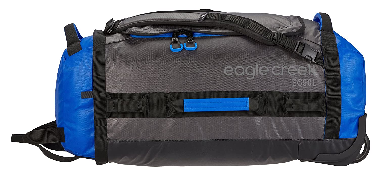 92 litros Eagle Creek Cargo Hauler Rolling Duffel 90l // L Maleta Blue//Asphalt 74 cm