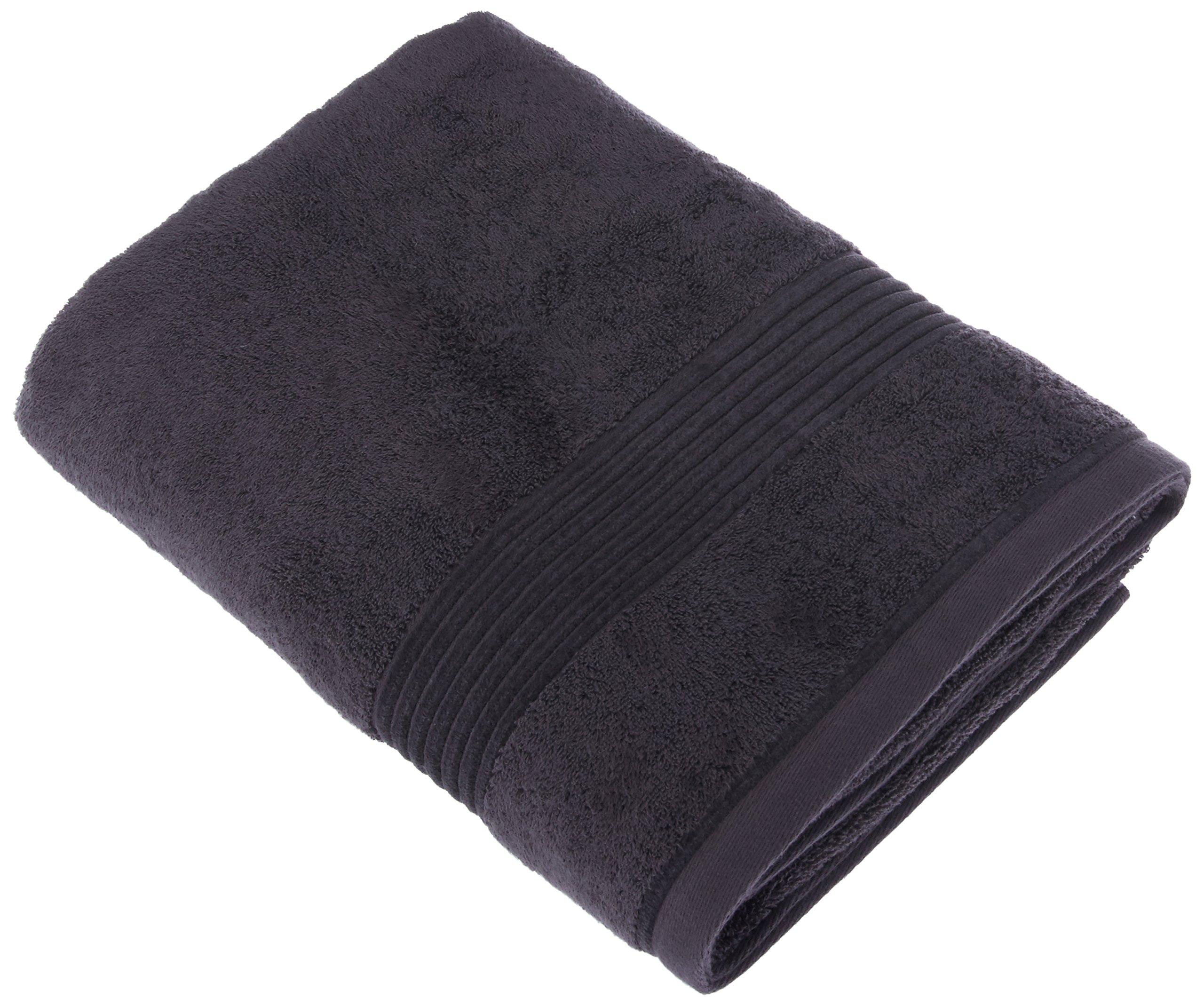Chortex Ultimate Zero Twist, 100% Cotton Bath Sheet (Pack of 2), 35'' x 68'', Charcoal