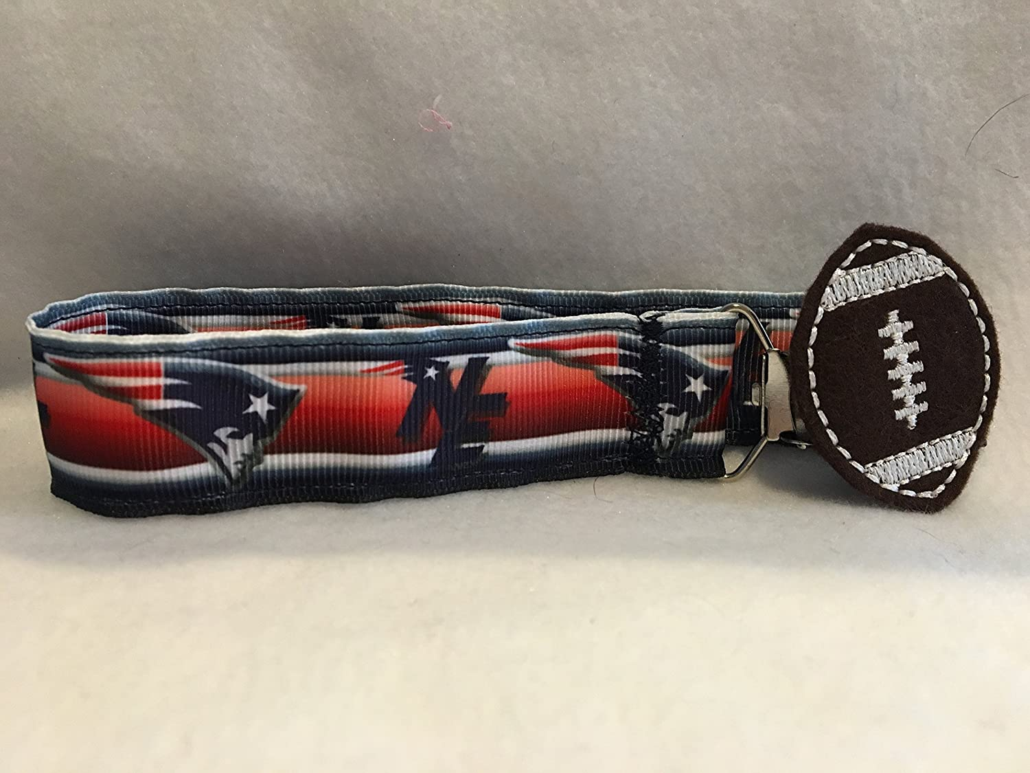 New England Patriots Baby Gifts, New England Patriots Ribbon, Custom Baby Gift, Preppy Baby Shower, Sports Theme Nursery, Pacifier Clip