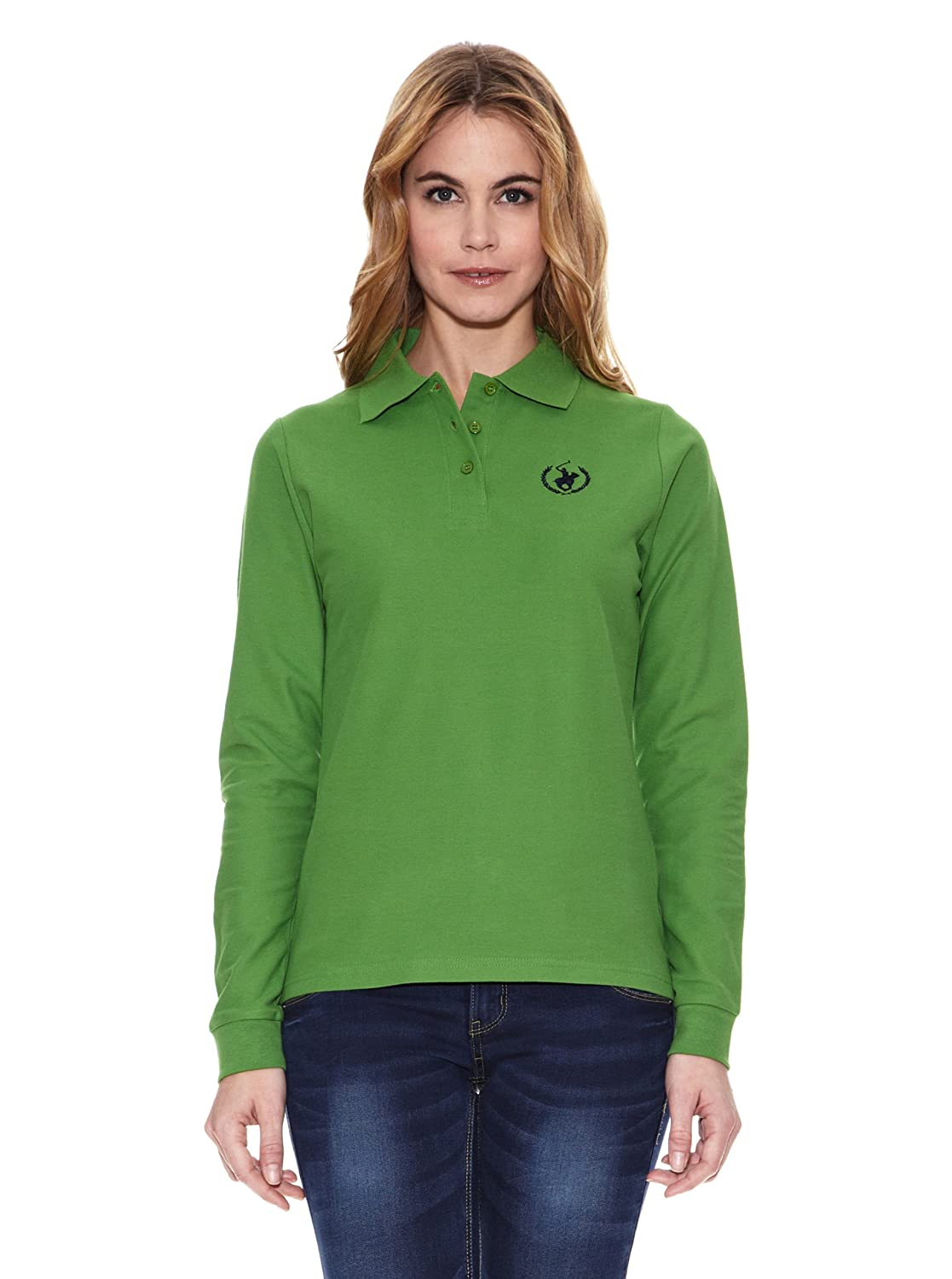 POLO CLUB Captain Horse Academy Polo Custom Fit Verde XS: Amazon ...
